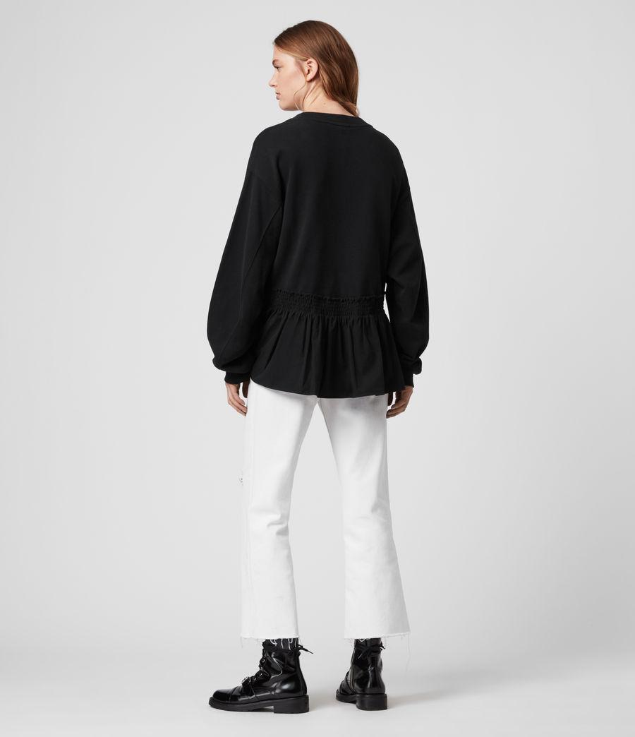 Donne Felpa Nio - In cotone con orlo arricciato (black_black) - Image 5