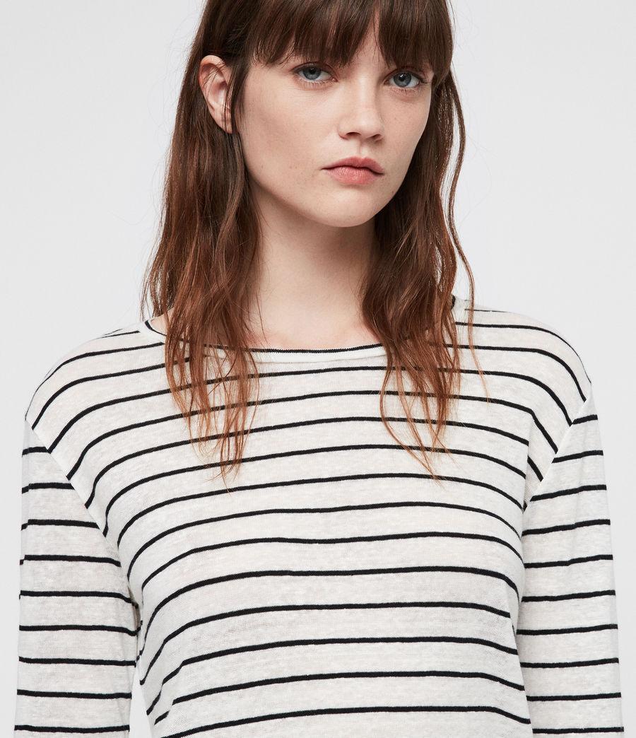 Womens Esme Breton Stripe Tee (chalk_white_black) - Image 2