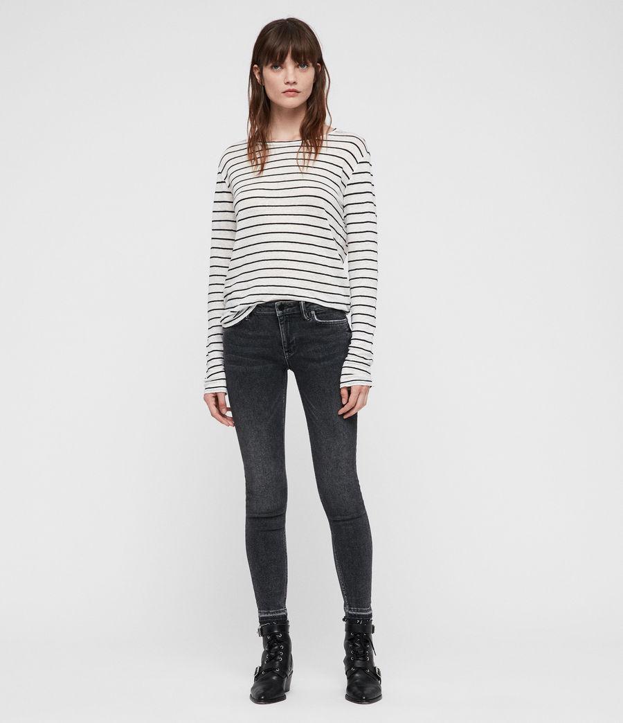 Womens Esme Breton Stripe Tee (chalk_white_black) - Image 3