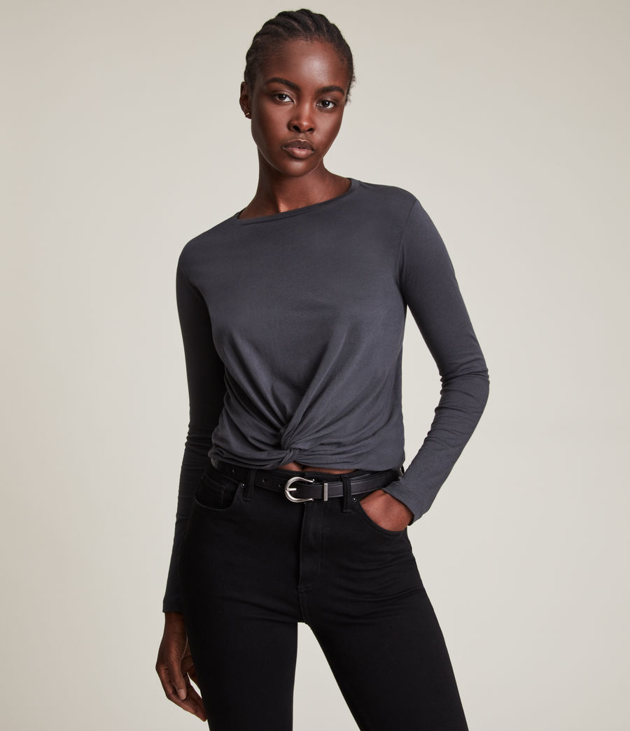 Donne T-shirt Carme (washed_black) - Image 1