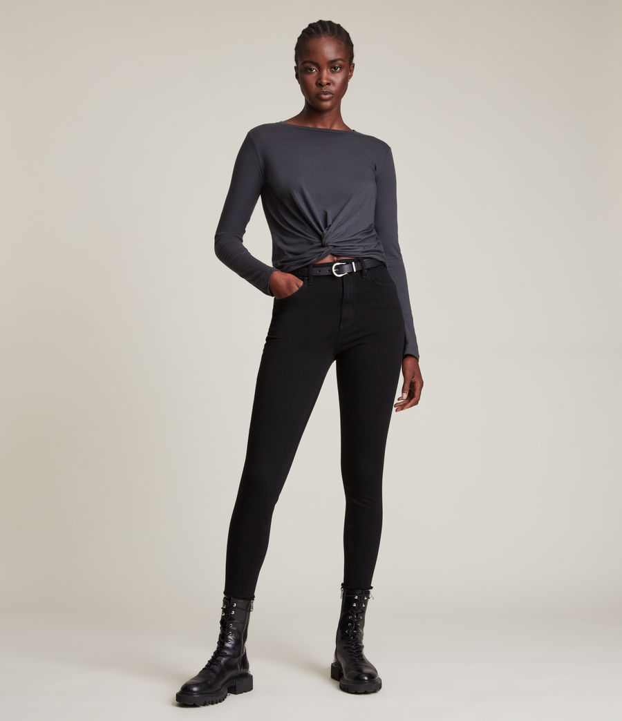 Donne T-shirt Carme (washed_black) - Image 3