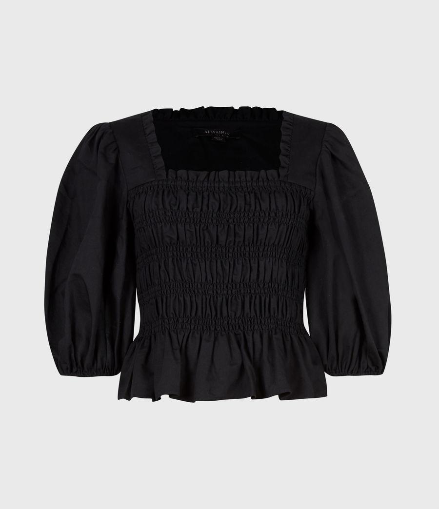 Damen Livi Leinen Top (black) - Image 2