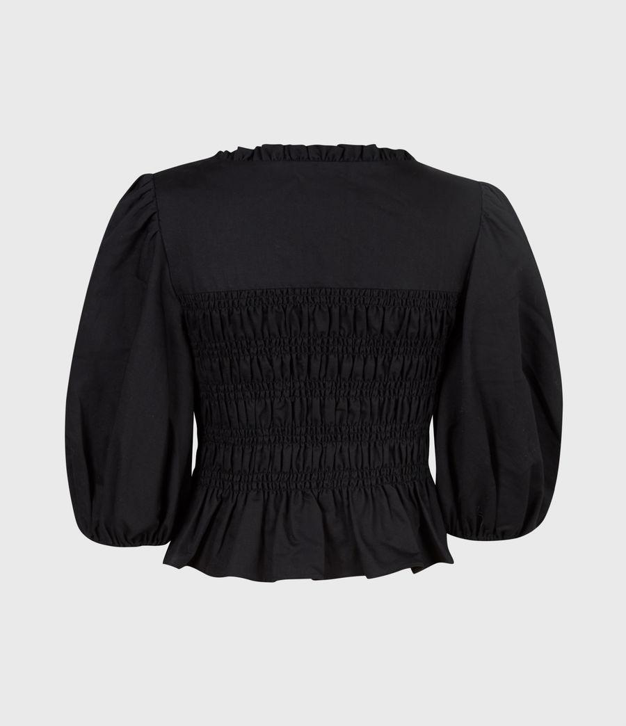 Damen Livi Leinen Top (black) - Image 3