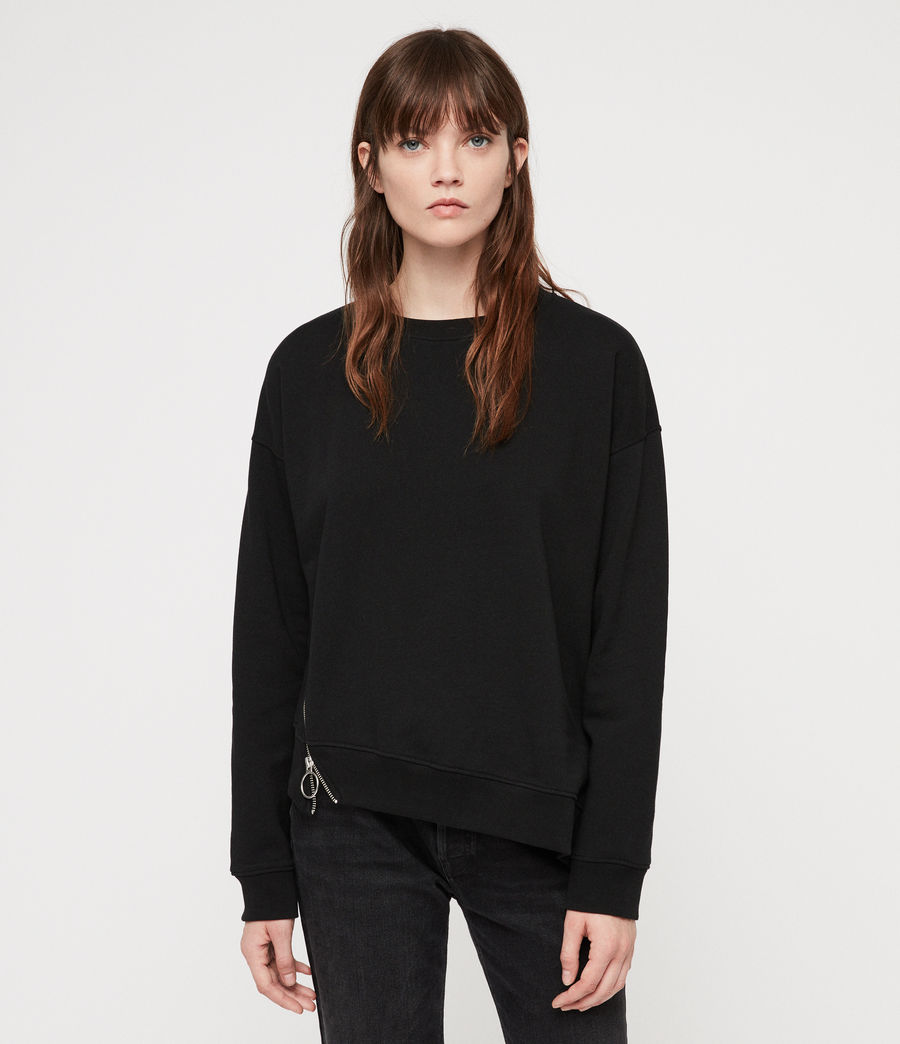 Women's Leti Able Sweatshirt (jet_black) - Image 1