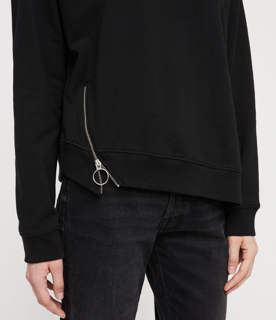 Women's Leti Able Sweatshirt (jet_black) - Image 2