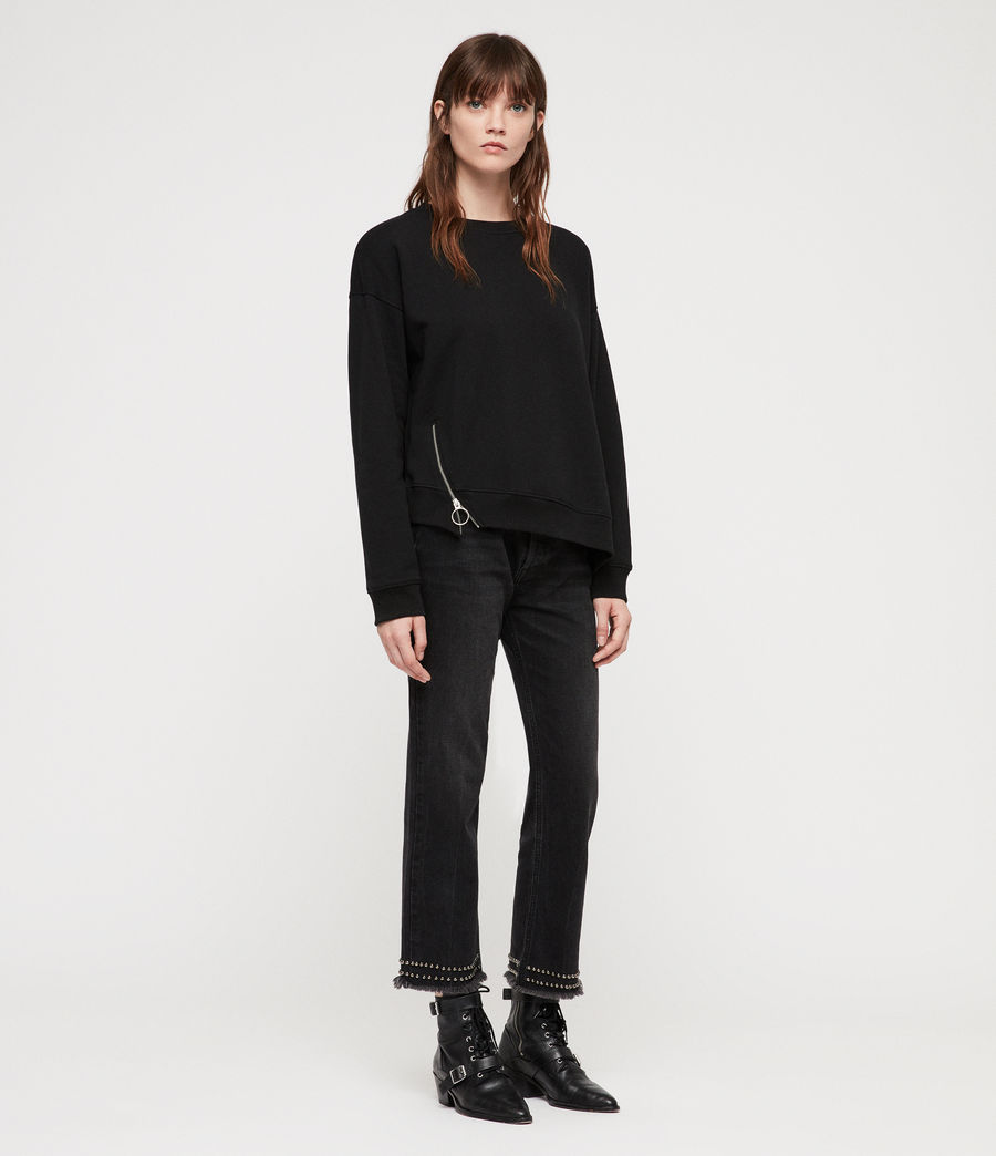 Women's Leti Able Sweatshirt (jet_black) - Image 3