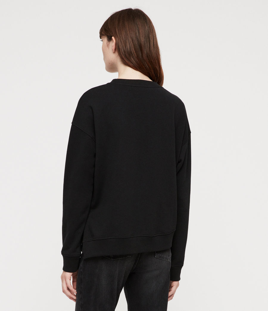 Women's Leti Able Sweatshirt (jet_black) - Image 4