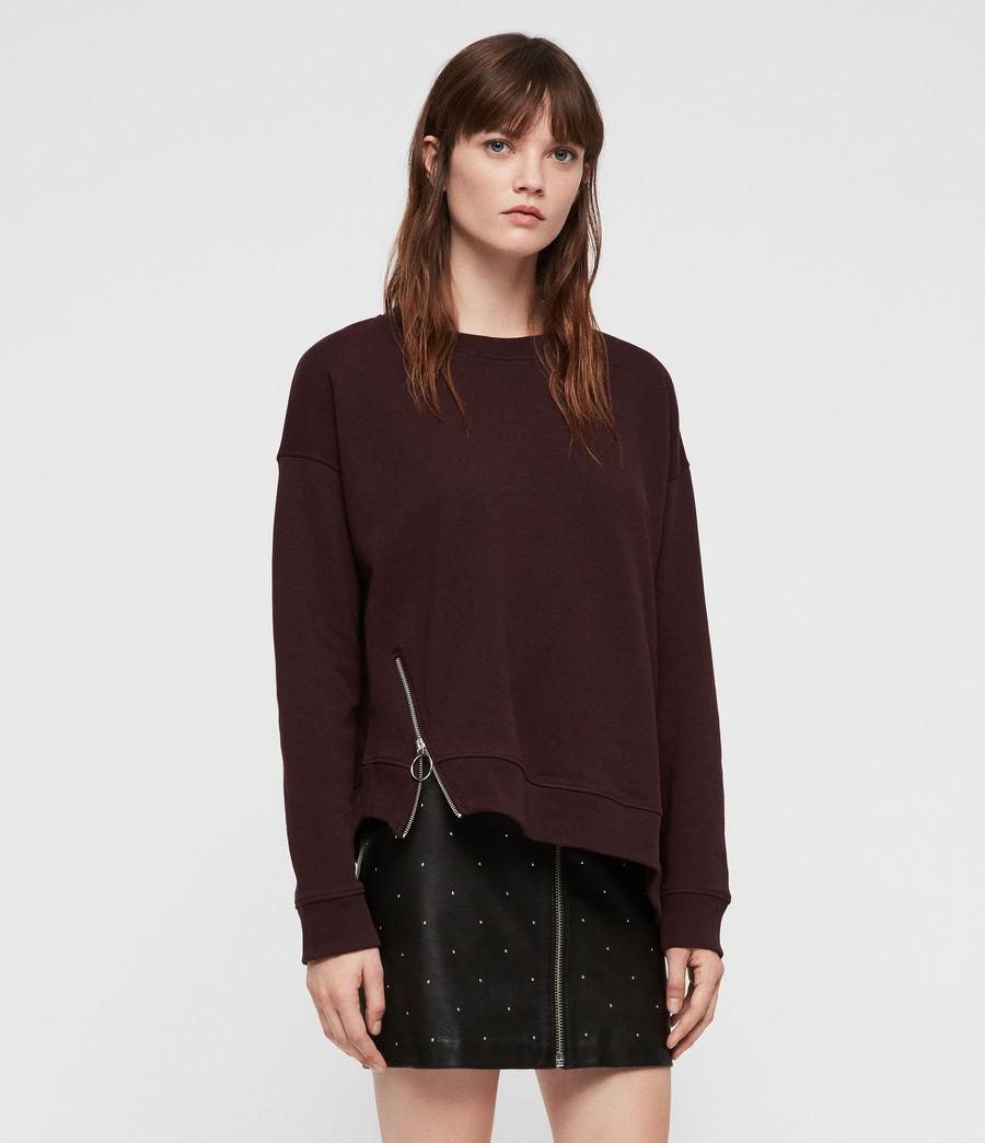 Womens Leti Able Sweatshirt (burgundy_red_marl) - Image 1