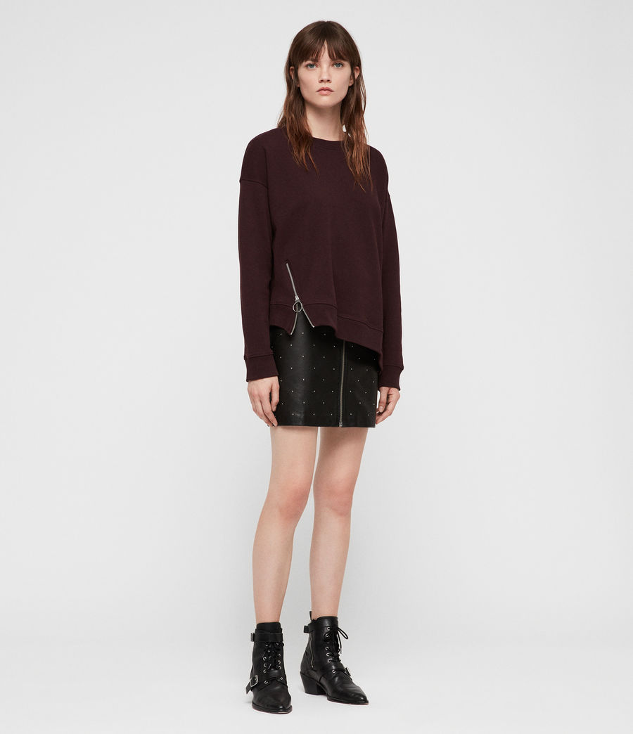 Womens Leti Able Sweatshirt (burgundy_red_marl) - Image 3