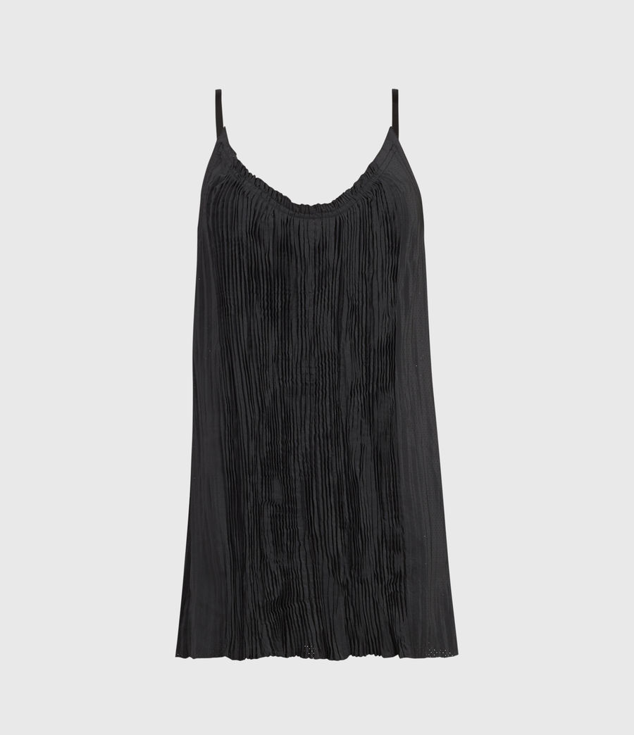 Women's Romey Pleat Top (black) - Image 1