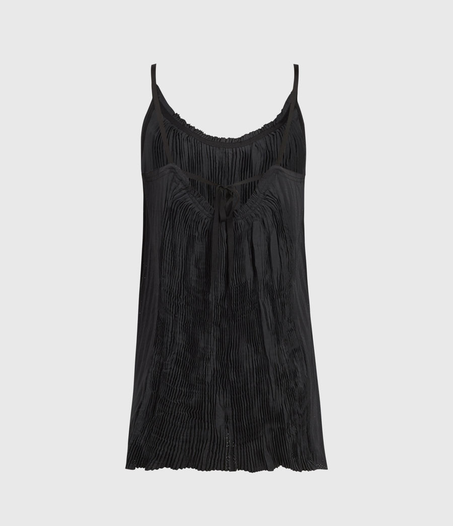 Women's Romey Pleat Top (black) - Image 2