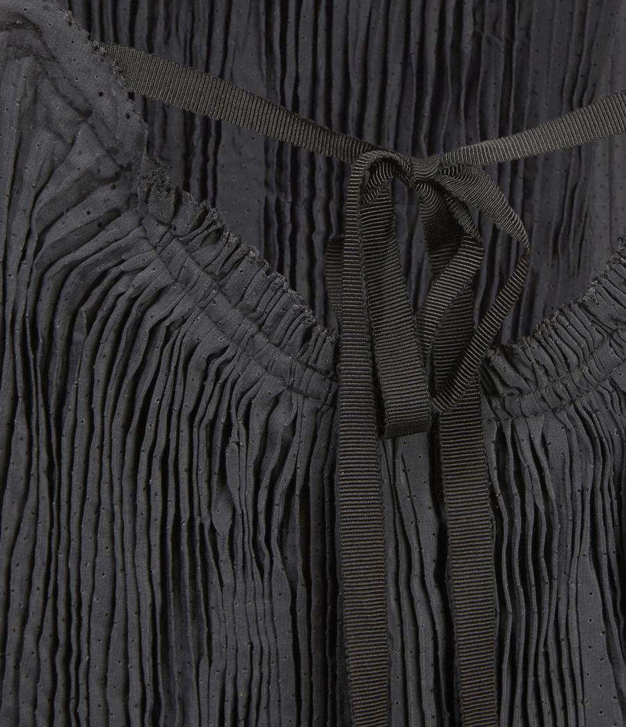 Women's Romey Pleat Top (black) - Image 3