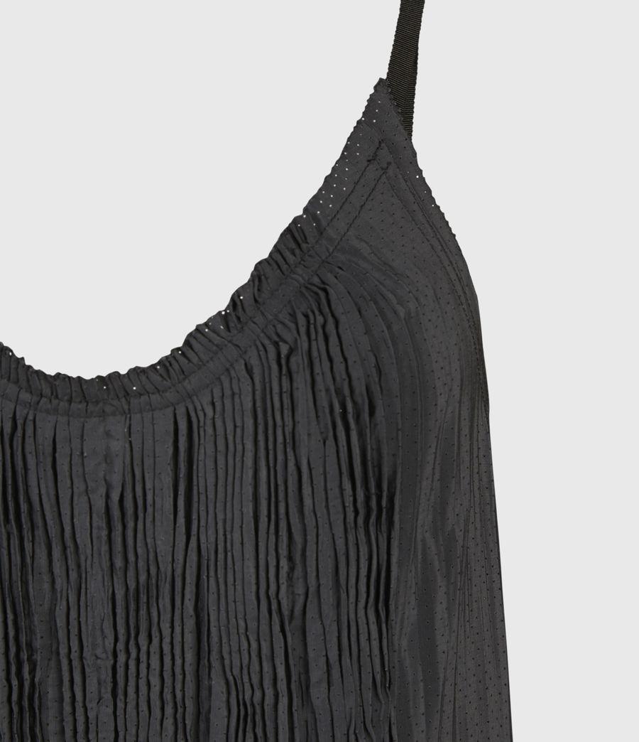Women's Romey Pleat Top (black) - Image 4