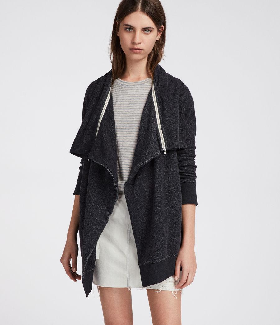 Womens Mila Dahlia Sweatshirt (black_marl) - Image 1