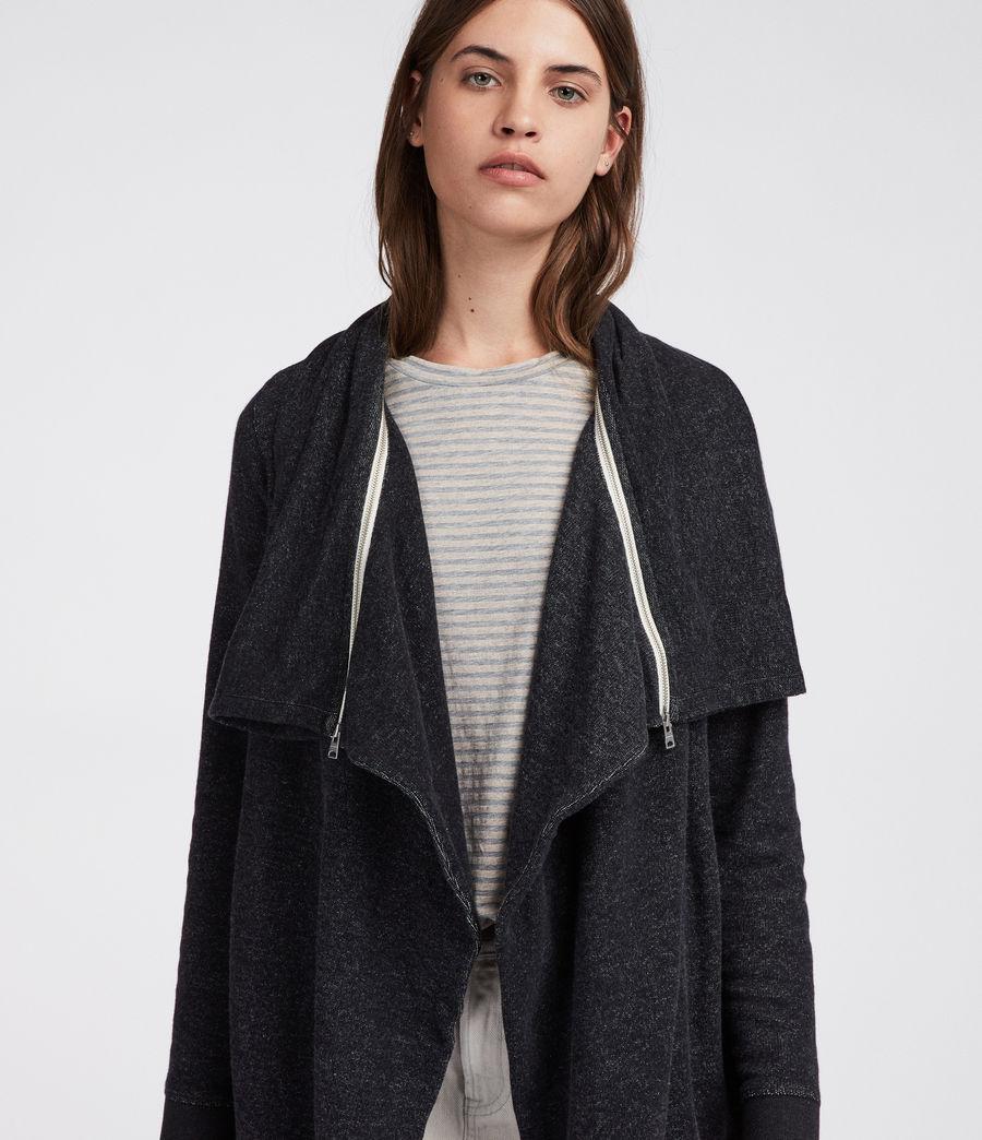 Womens Mila Dahlia Sweatshirt (black_marl) - Image 3