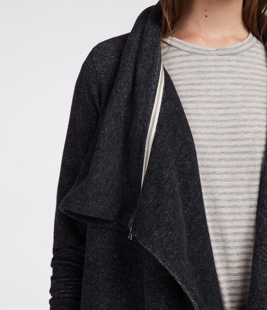 Womens Mila Dahlia Sweatshirt (black_marl) - Image 4