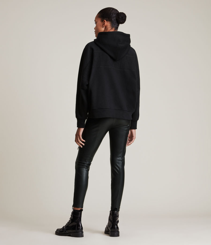 Damen Allsaints Talon Hoodie (black) - Image 4