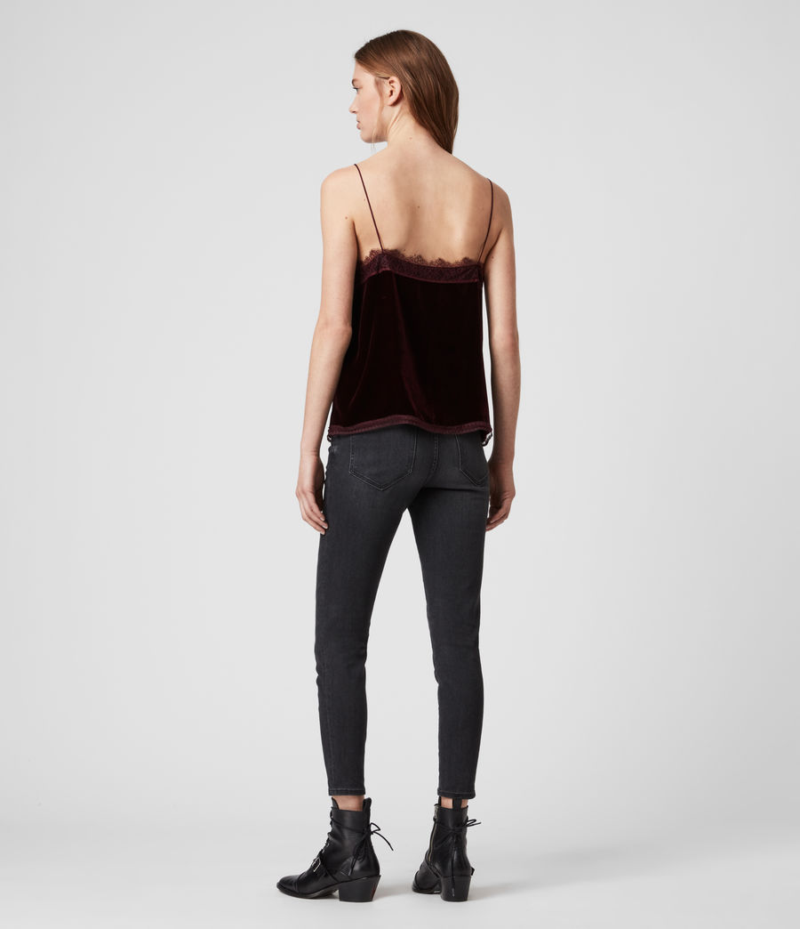 Womens Noa Velvet Top (oxblood_red) - Image 4