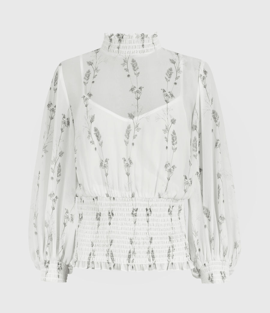 Damen Delfi Varanasi Top (chalk_white) - Image 1