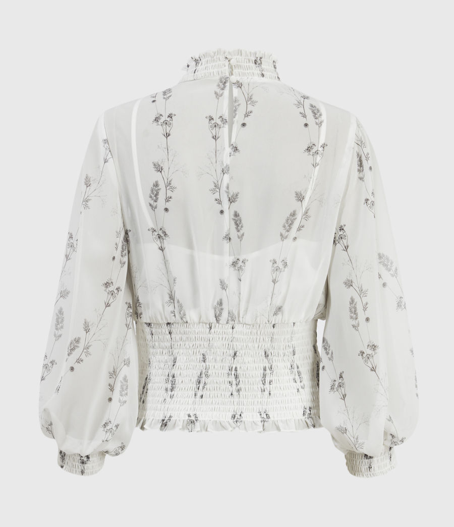 Damen Delfi Varanasi Top (chalk_white) - Image 2