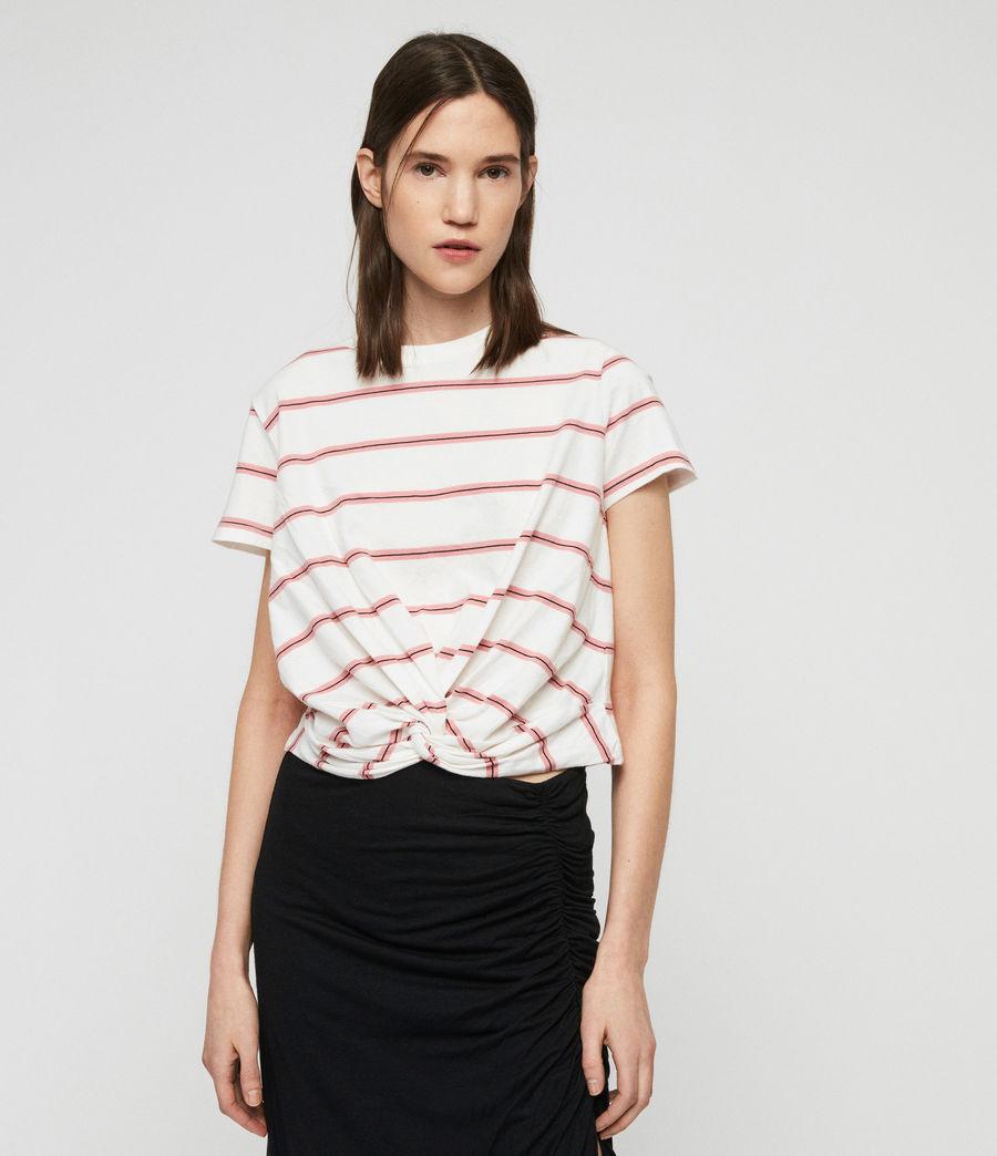 Donne T-Shirt Carme Stripe (pink_chalk_white) - Image 1