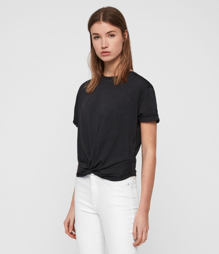 Women's Carme Devo T-Shirt (dark_night_blue) - Image 1