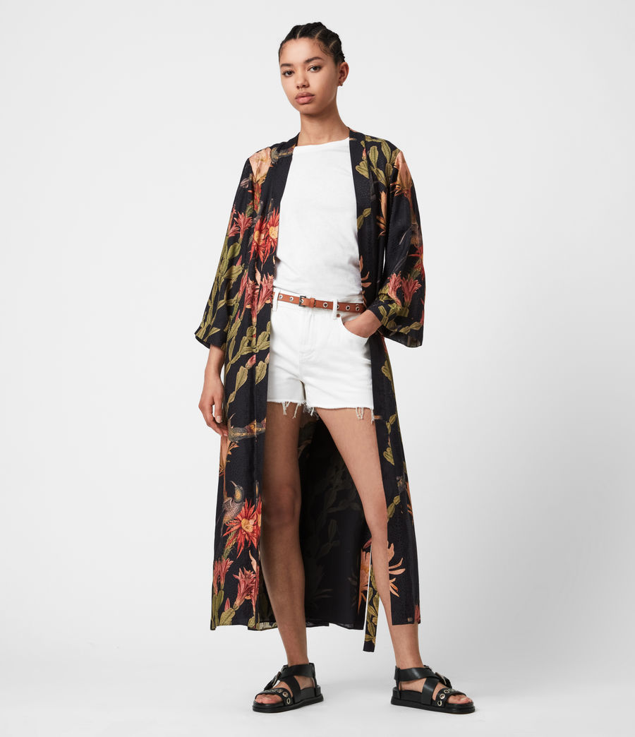 Women's Carine Nolina Silk Blend Kimono (black) - Image 1