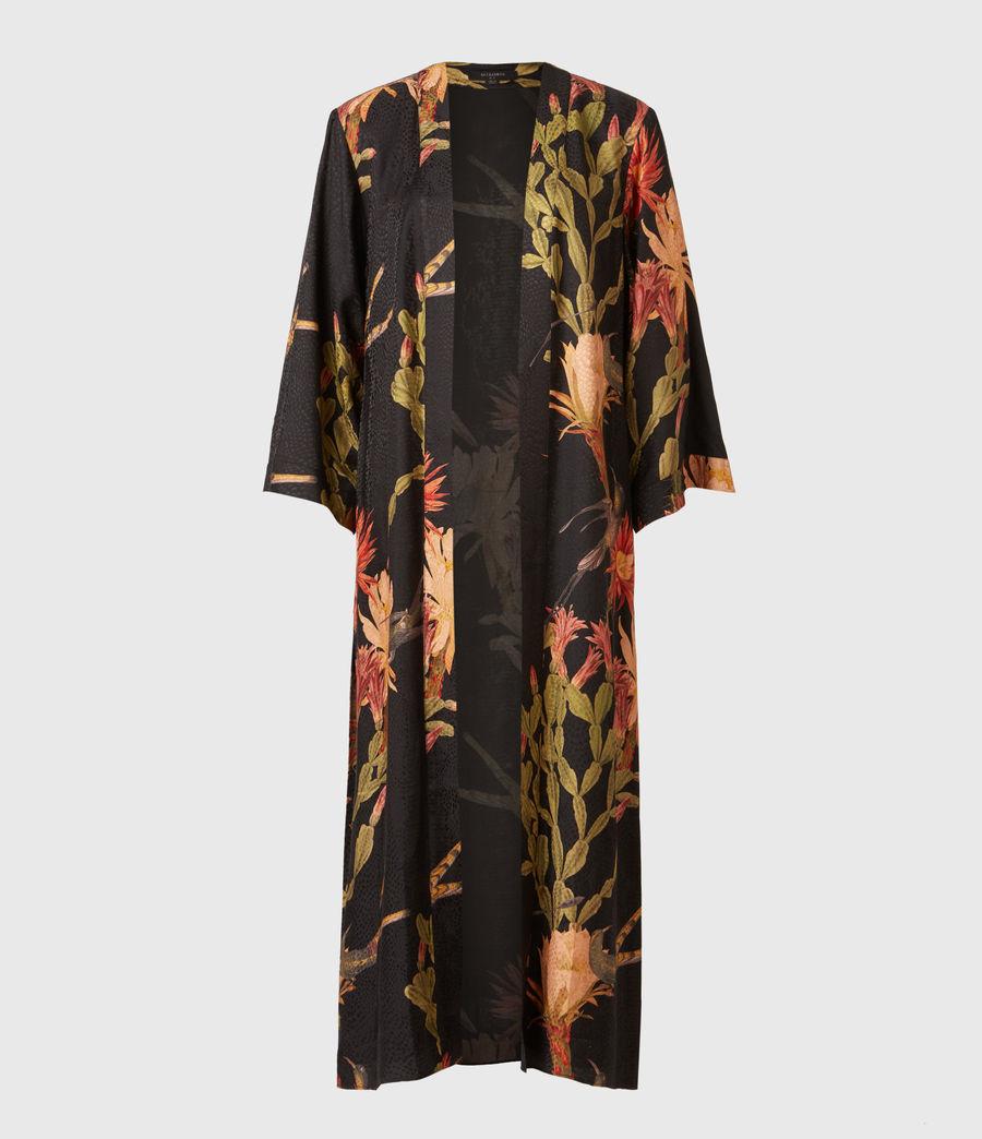 Women's Carine Nolina Silk Blend Kimono (black) - Image 2