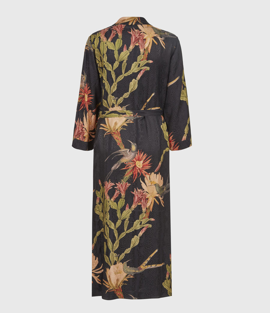 Women's Carine Nolina Silk Blend Kimono (black) - Image 3