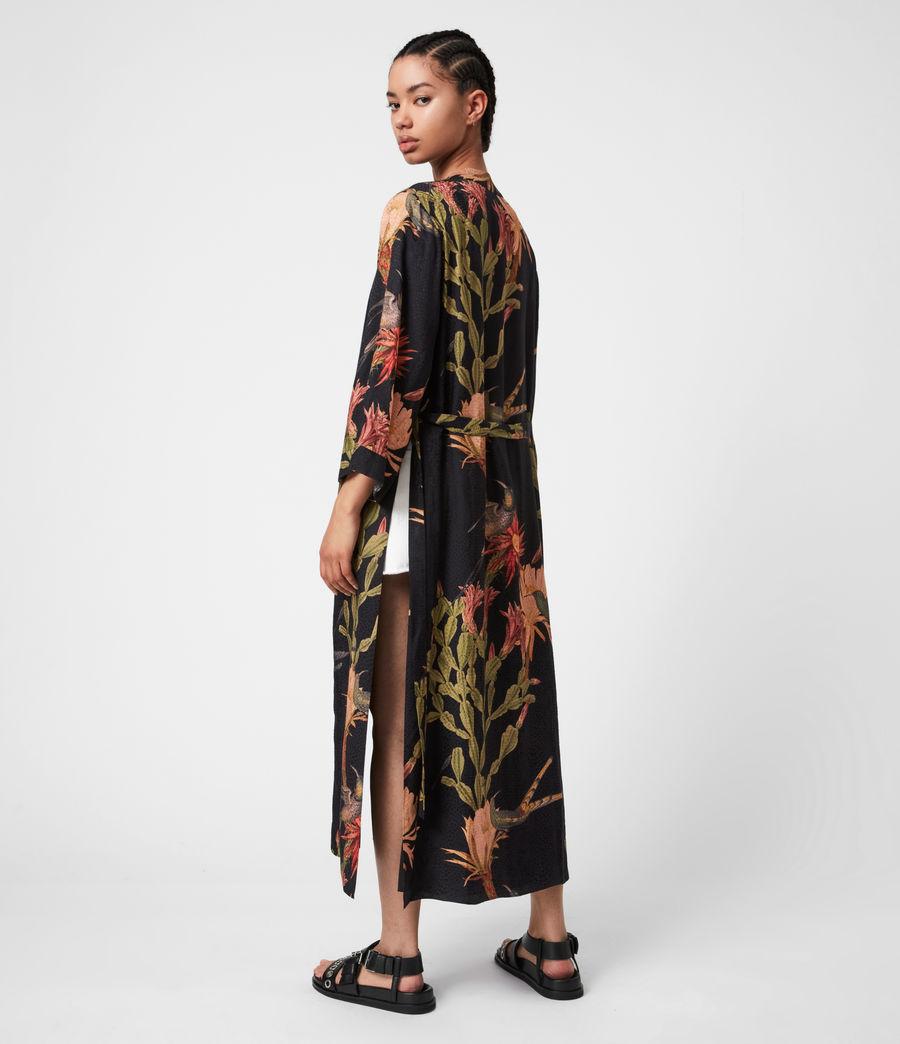 Women's Carine Nolina Silk Blend Kimono (black) - Image 4