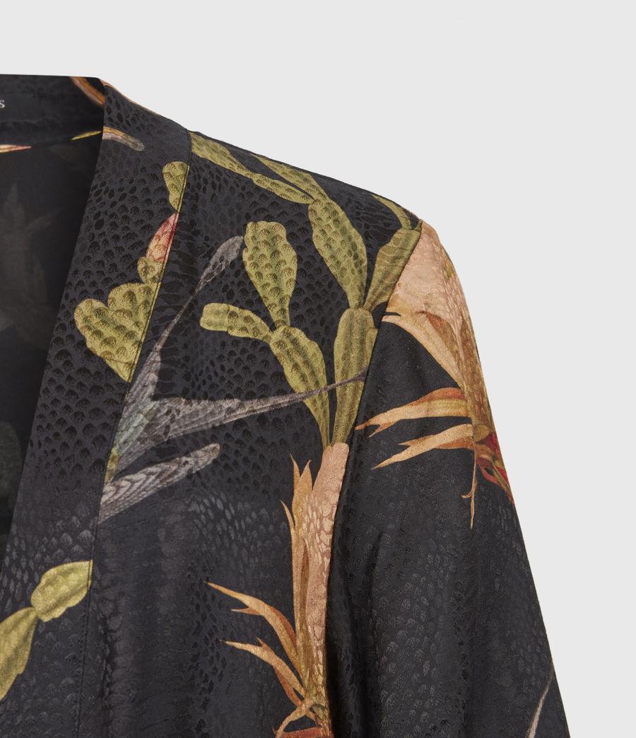 Women's Carine Nolina Silk Blend Kimono (black) - Image 5