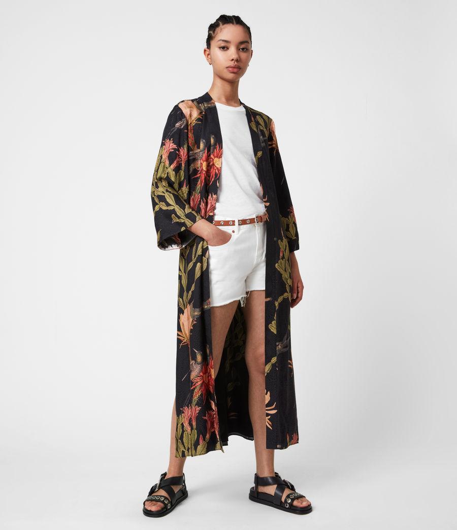 Women's Carine Nolina Silk Blend Kimono (black) - Image 7