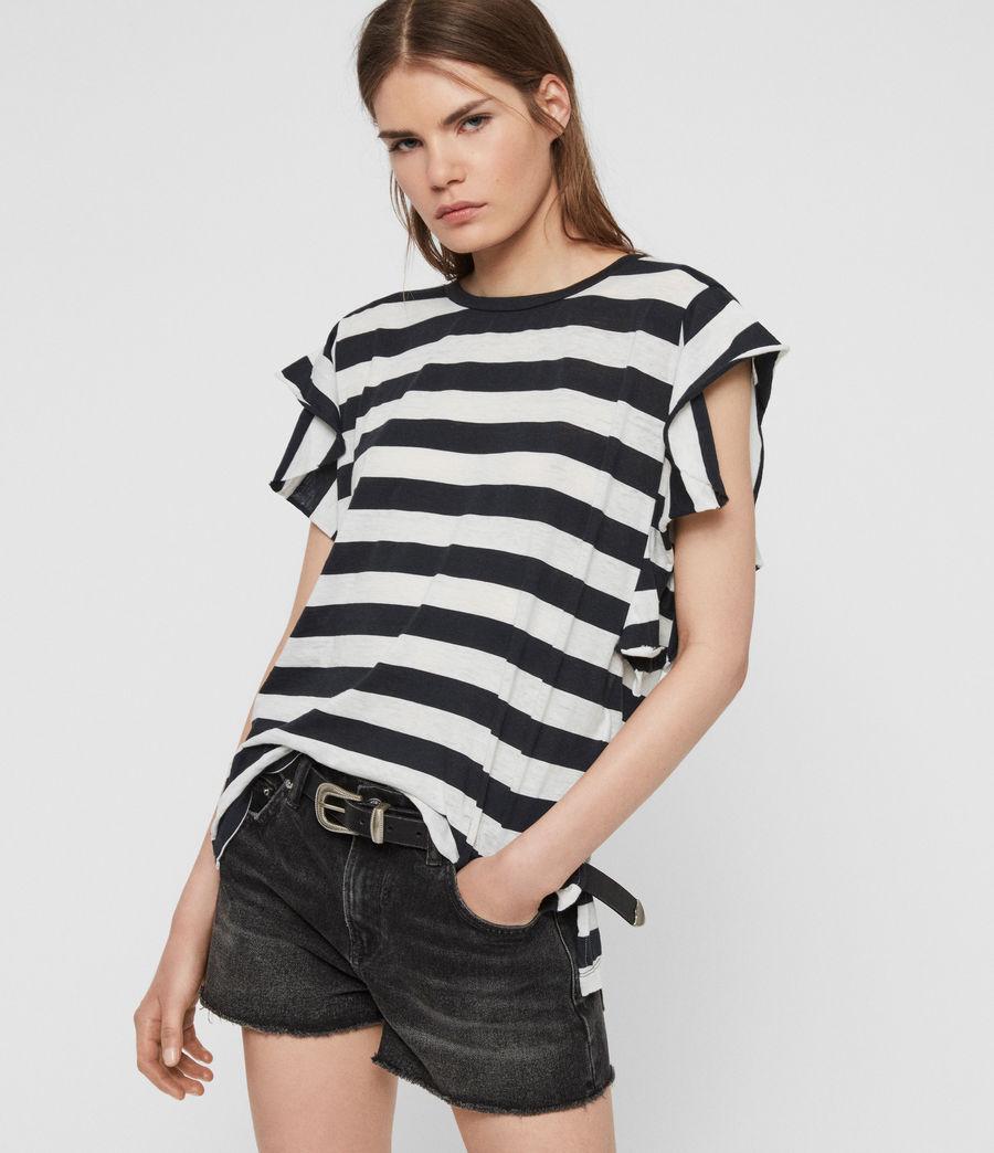 Women's Darno Stripe T-Shirt (ink_chalk_white) - Image 1