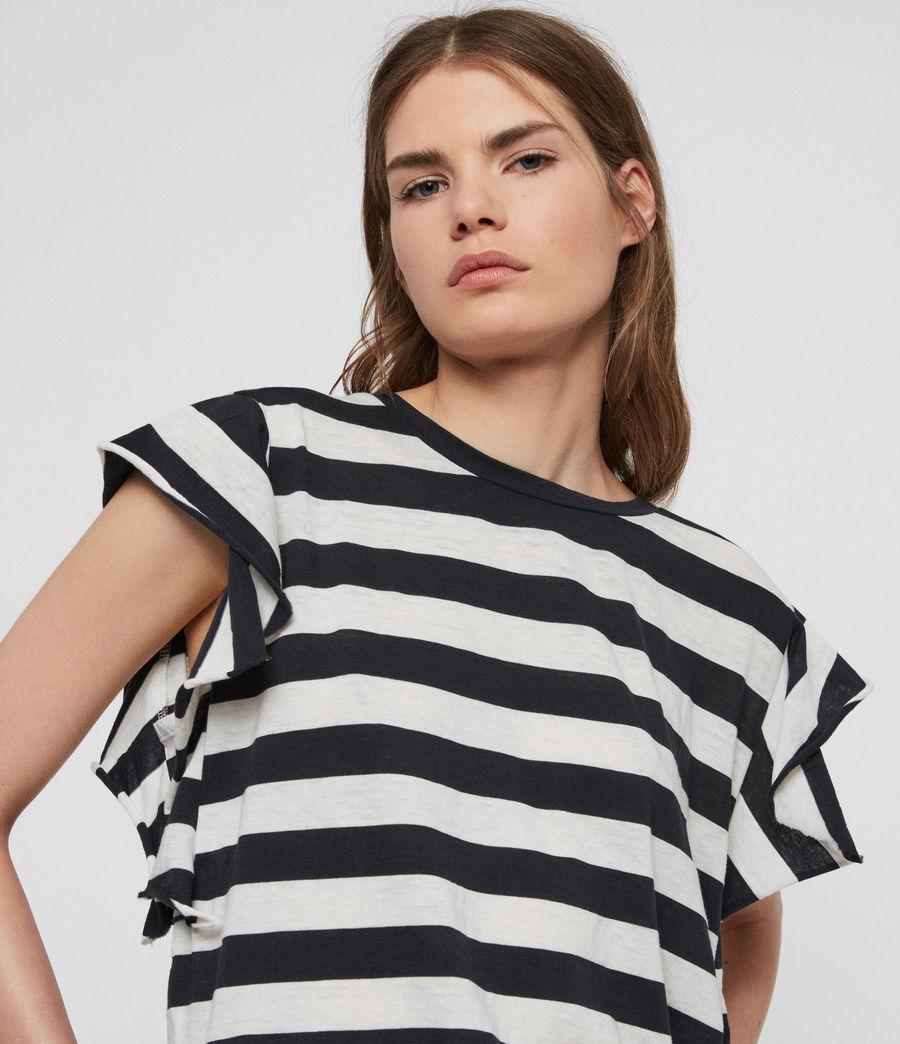 Women's Darno Stripe T-Shirt (ink_chalk_white) - Image 2