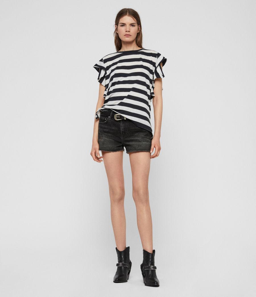 Women's Darno Stripe T-Shirt (ink_chalk_white) - Image 3