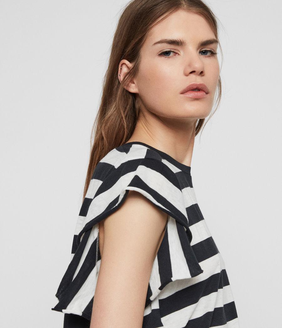 Women's Darno Stripe T-Shirt (ink_chalk_white) - Image 4