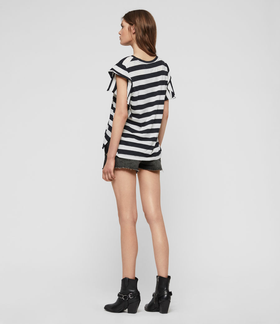 Womens Darno Stripe T-Shirt (ink_chalk_white) - Image 5