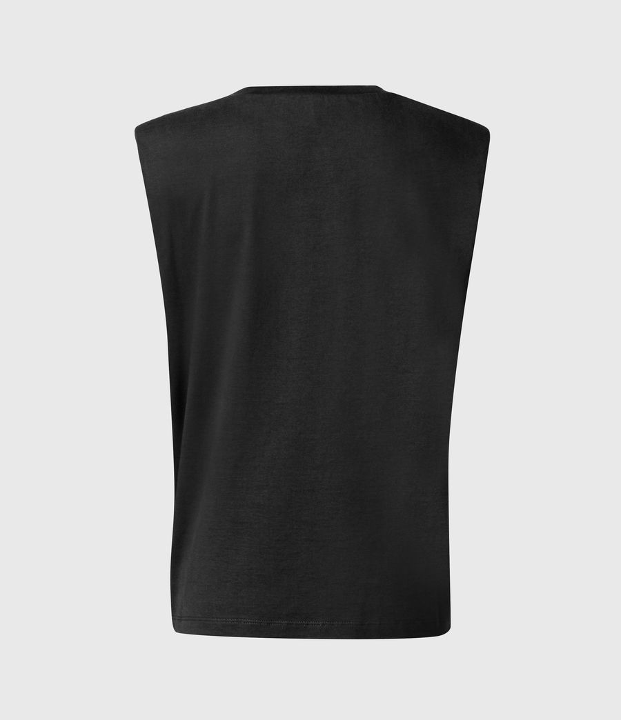 Women's Coni Organic Cotton Tank (black) - Image 3