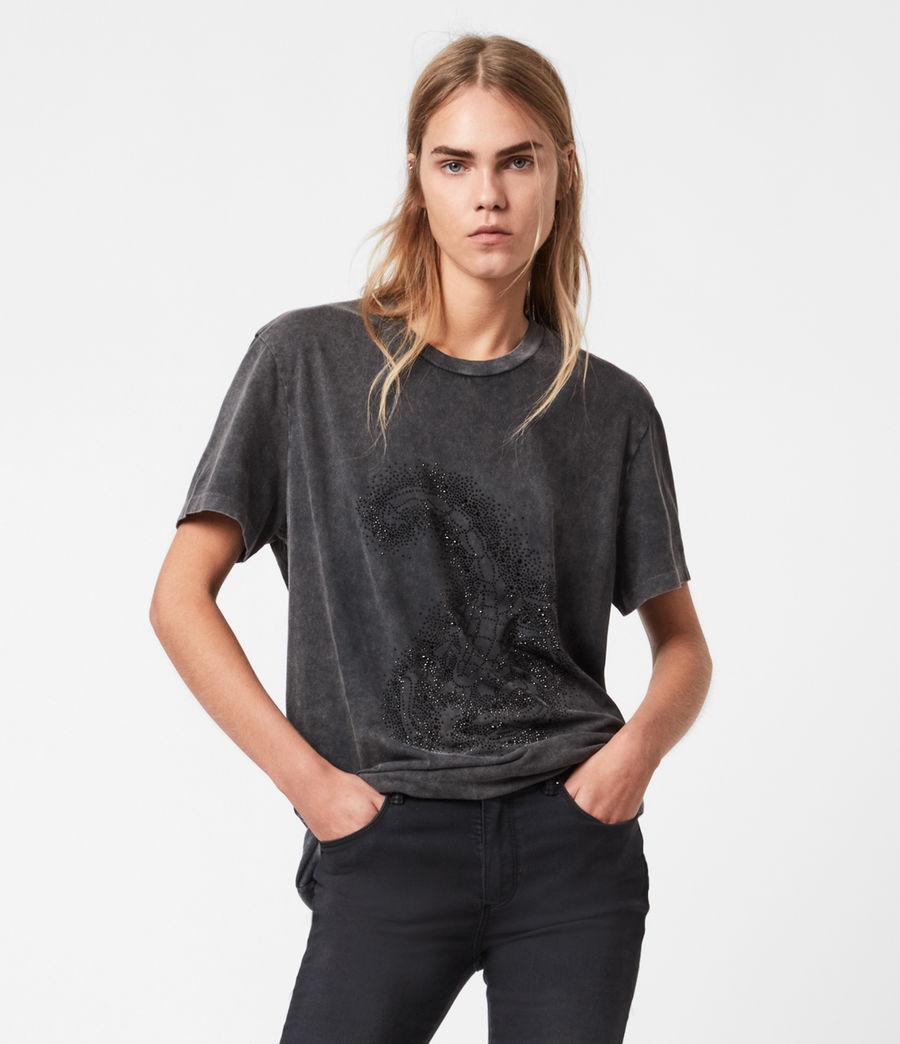 Womens Celeste Scorpion Mila T-Shirt (acid_washed_black) - Image 1
