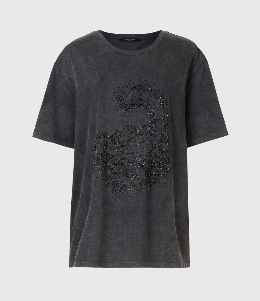 Womens Celeste Scorpion Mila T-Shirt (acid_washed_black) - Image 2