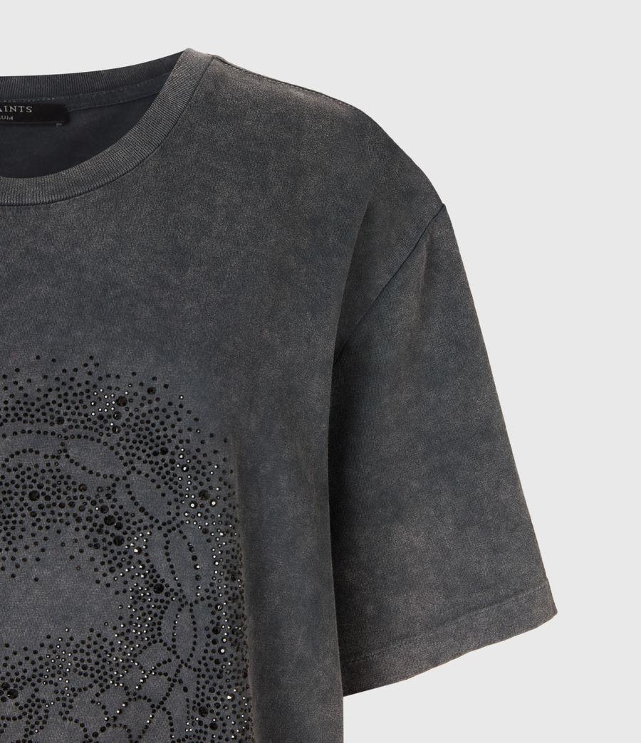 Womens Celeste Scorpion Mila T-Shirt (acid_washed_black) - Image 4