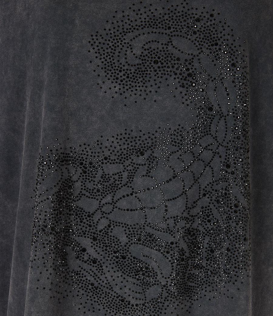 Womens Celeste Scorpion Mila T-Shirt (acid_washed_black) - Image 5