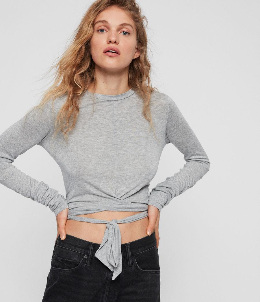 Women's Carmo Tie T-Shirt (grey_marl) - Image 1