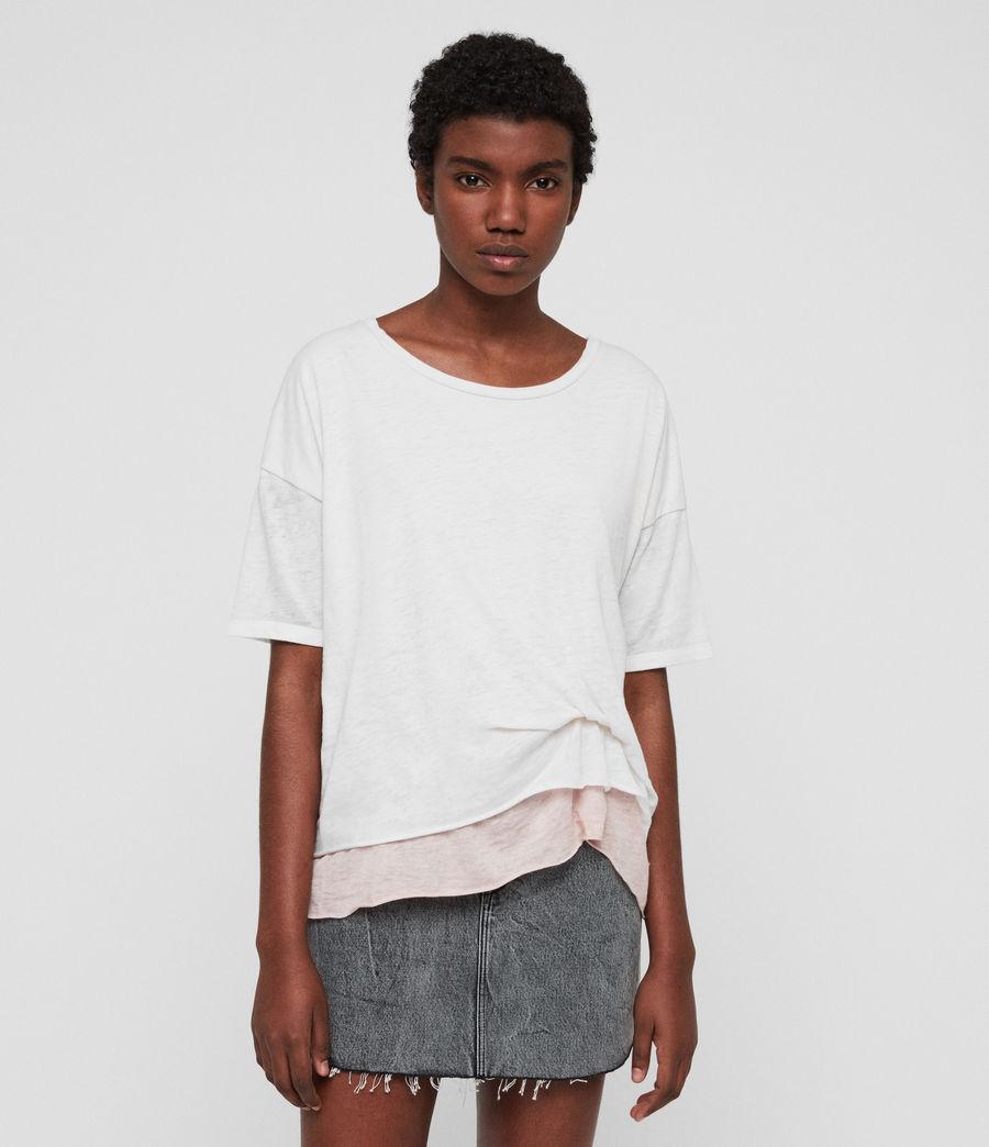 Femmes T-Shirt Bev (smogwhite_camipink) - Image 1