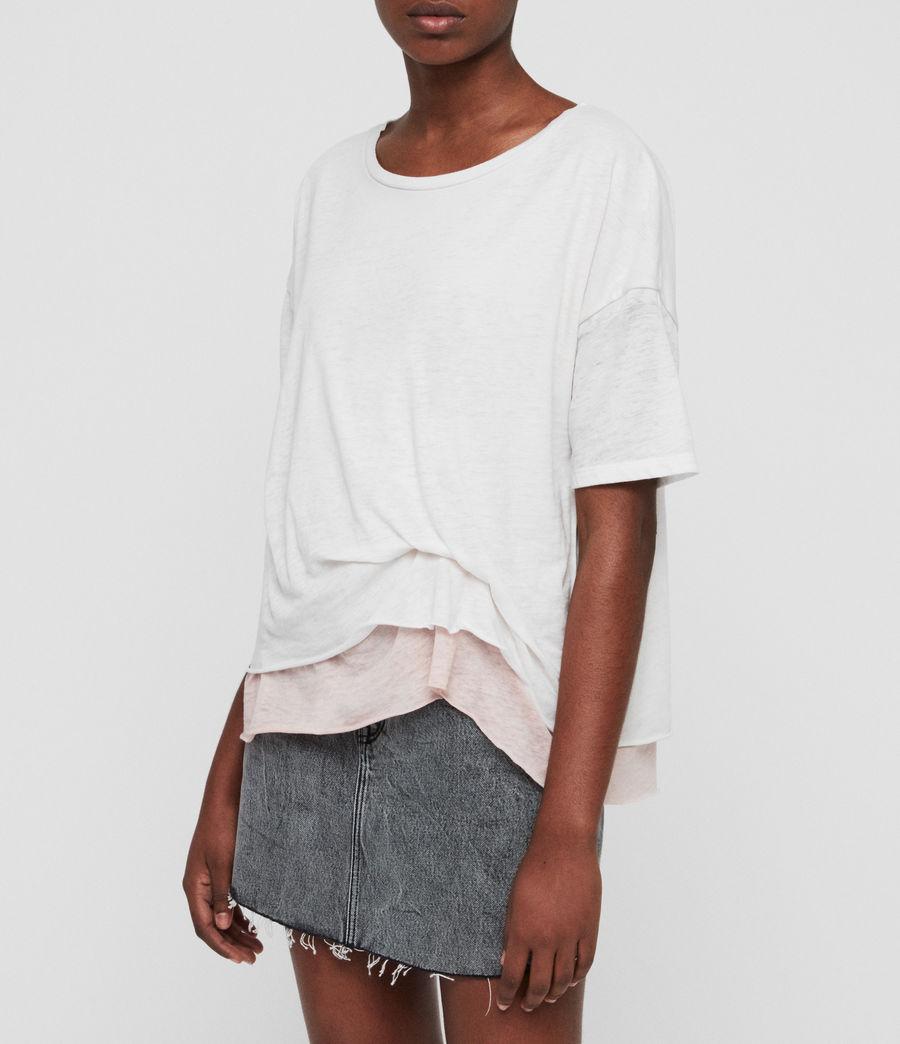 Femmes T-Shirt Bev (smogwhite_camipink) - Image 2