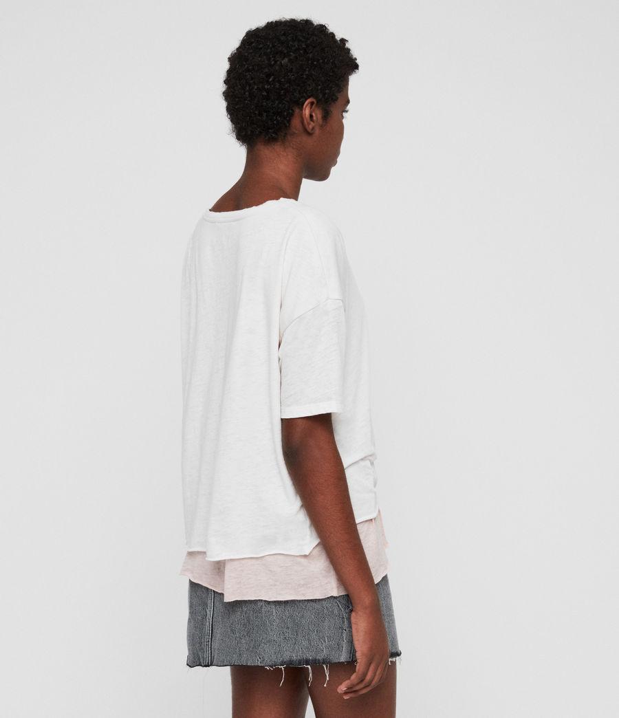 Femmes T-Shirt Bev (smogwhite_camipink) - Image 4