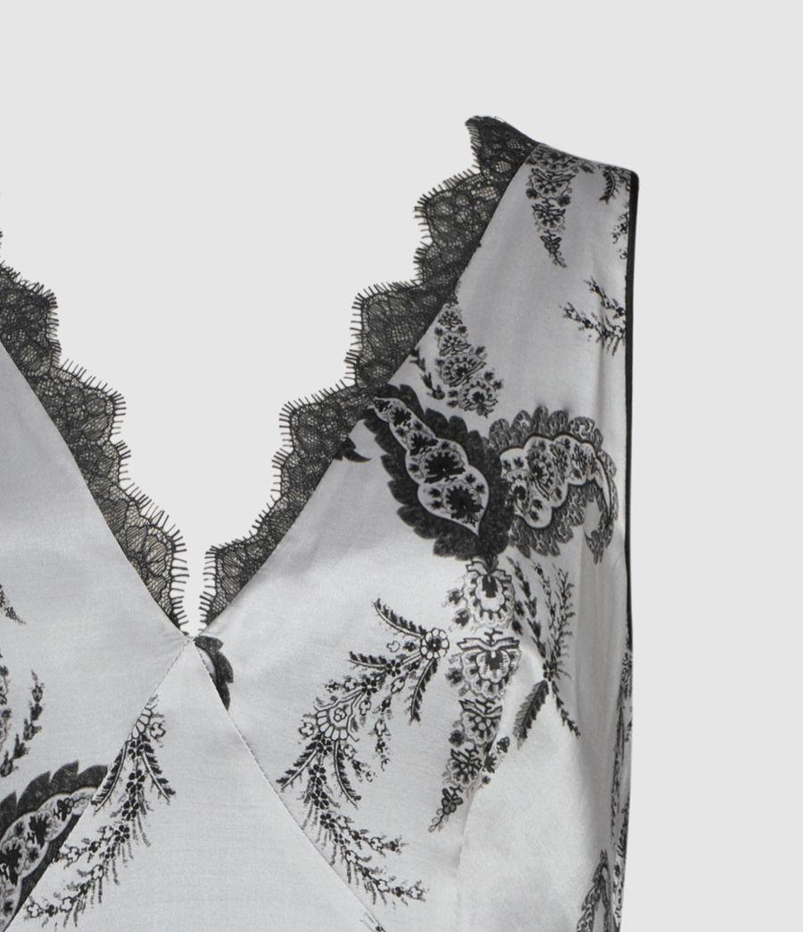 Women's Nysa Kashmir Silk Blend Top (grey) - Image 3