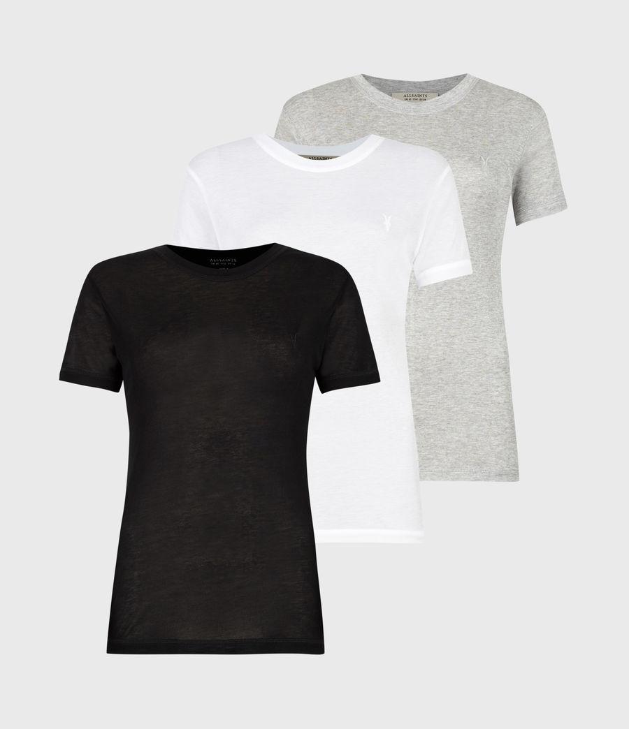 Womens Francesco Short Sleeve 3 Pack T-Shirts (multi) - Image 1