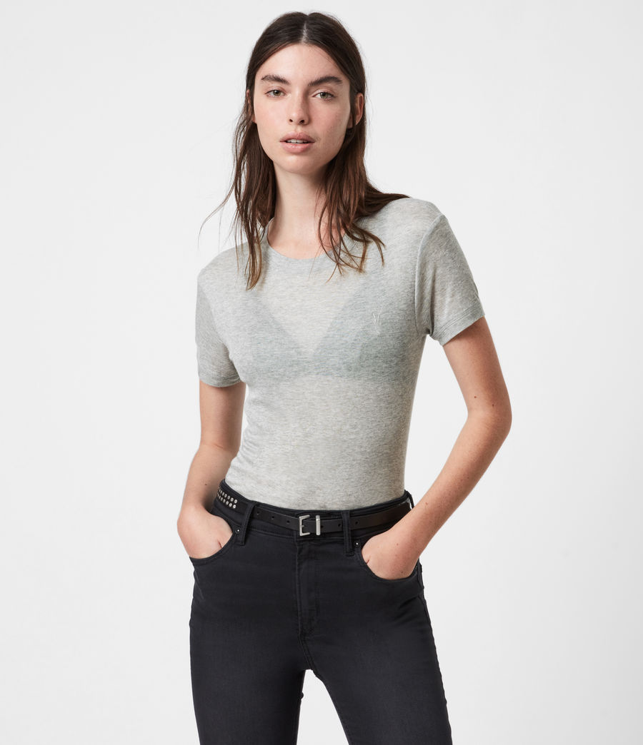Womens Francesco Short Sleeve 3 Pack T-Shirts (multi) - Image 4