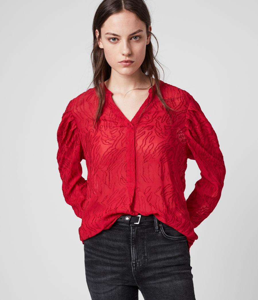 Damen Rosi Ani Top (red) - Image 1